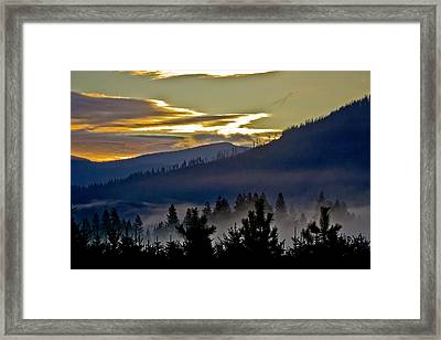 Framed Print featuring the photograph Sunrise And Valley Fog by Albert Seger