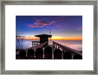 Sunrise Angel Framed Print by Debra and Dave Vanderlaan