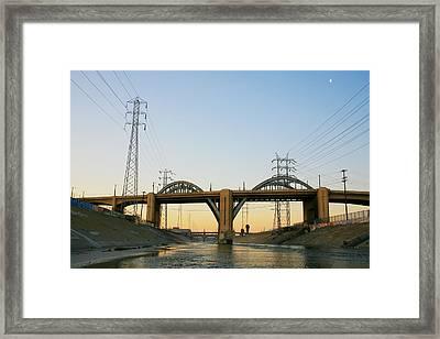 Sunrise At 6th Street Bridge Framed Print by Kevin  Break