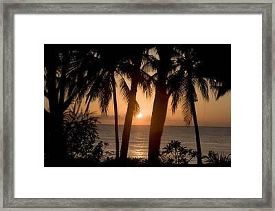 Sunrise At Bali Island Framed Print by Tim Laman