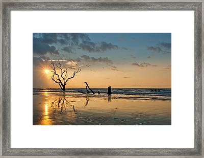 Sunrise At Bone Yard Beach Framed Print