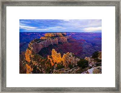 Sunrise At Cape Royal Grand Canyon Framed Print by John Reckleff