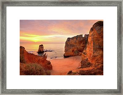 Sunrise At Dona Ana Framed Print by Monica and Michael Sweet