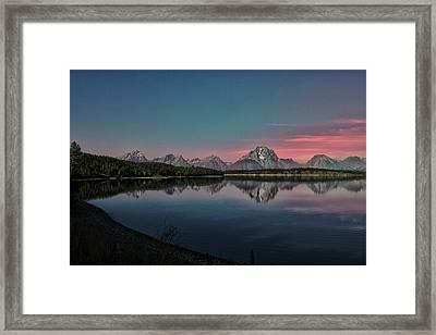 Sunrise At Lake Framed Print by Gemma