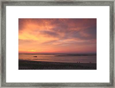 Sunrise At Lighthouse Beach Chatham Cape Cod Framed Print