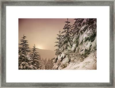 Sunrise At Mt Rainier Framed Print by Nichon Thorstrom