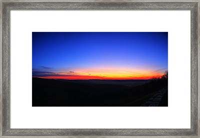 Sunrise At Skyline Drive Framed Print by Metro DC Photography