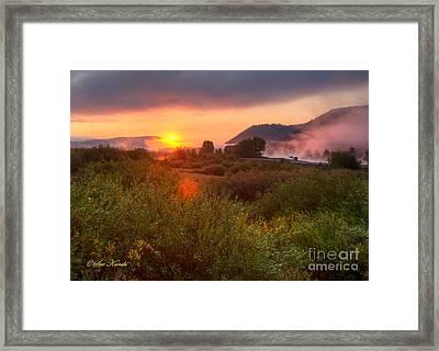 Sunrise At Snake River Framed Print