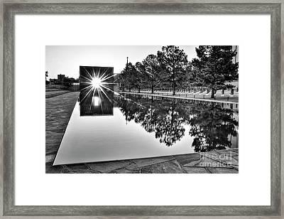 Sunrise At The Alfred P Murrah Memorial Framed Print by Tamyra Ayles