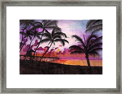 Sunrise At The Deerfield Beach Pier Framed Print