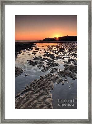 Sunrise At Trow Rocks II Framed Print by Ray Pritchard