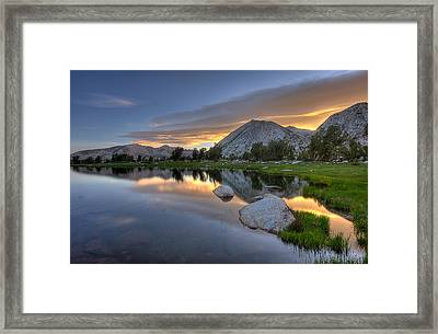 Sunrise At Upper Young Lake Framed Print by by Sathish Jothikumar