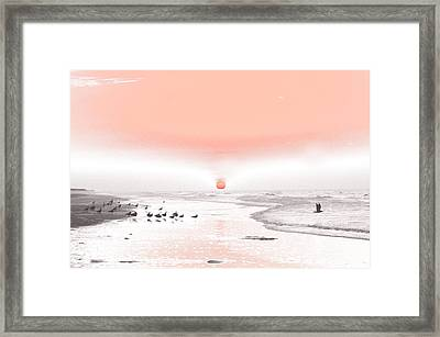 Pastel Sunrise Beach Framed Print