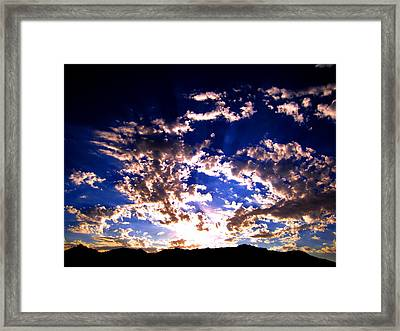 Sunrise Framed Print by Catherine Natalia  Roche