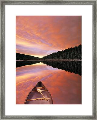 Sunrise Clouds Over Winchell Lake Framed Print