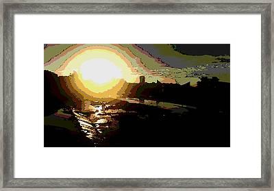 Sunrise Framed Print by David Alvarez