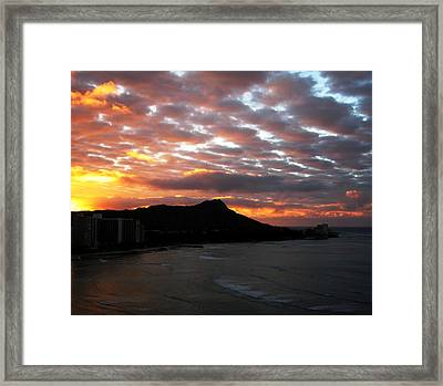 Sunrise Diamond Head I Framed Print