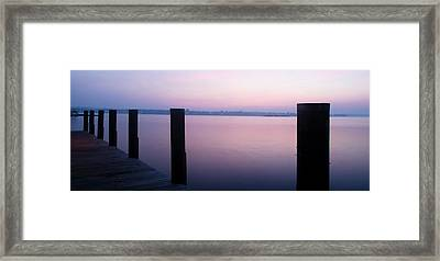 Sunrise Dock Framed Print