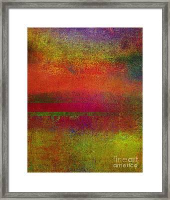 Sunrise Earth IIi Framed Print by Ricki Mountain