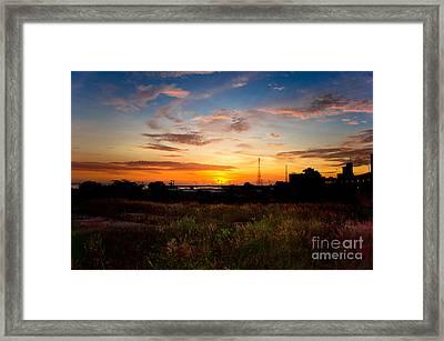 Sunrise Framed Print by Hector Lozano