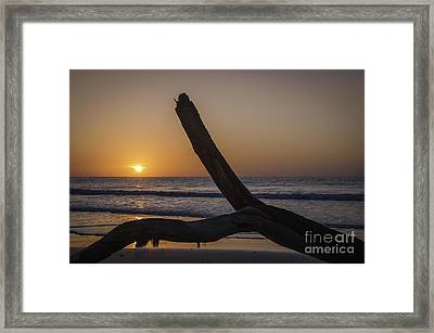 Sunrise Hunting Island Framed Print