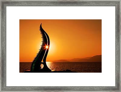Sunrise In Agios Nikolaos Framed Print