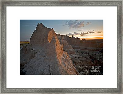 Sunrise In Badlands Framed Print by Chris Brewington Photography LLC