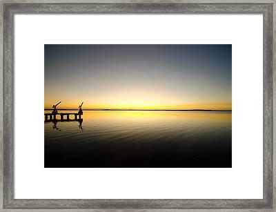 Sunrise In Key Largo Framed Print by Chris Thaxter