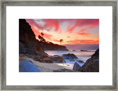 Sunrise In Laguna Beach Framed Print