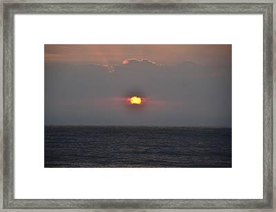 Sunrise In Melbourne Fla Framed Print by Randy J Heath