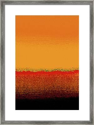 Sunrise In October Framed Print by James Mancini Heath