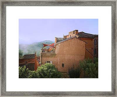 Sunrise In Roussillon Framed Print by Sandra Anderson