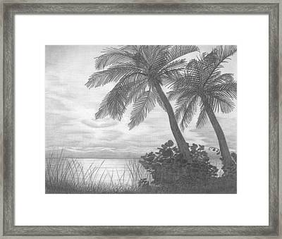 Sunrise In South Florida Framed Print