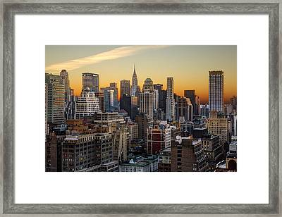 Sunrise In The City II Framed Print by Janet Fikar