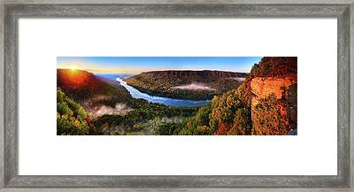 Sunrise In The Gorge Framed Print