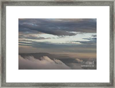 Framed Print featuring the photograph Sunrise In The Mountains by Jeannette Hunt