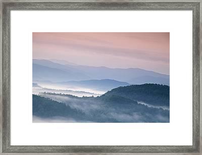 Sunrise In The Smokies Framed Print by Andrew Soundarajan