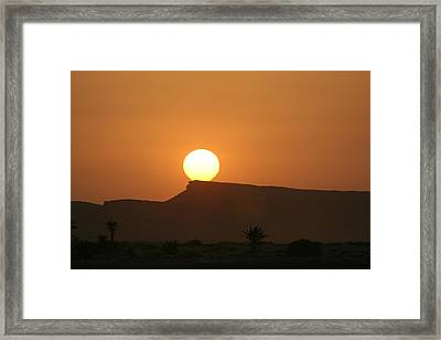 Sunrise In Tunisia Framed Print by Simona  Mereu