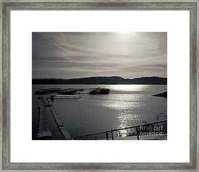 Sunrise Lake Pleasant Framed Print by Arne Hansen