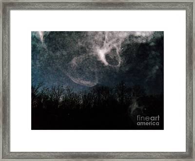 Sunrise Mist And Moon Framed Print by Doug Kean