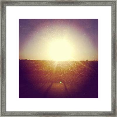 #sunrise #nature #sky #andrography Framed Print by Kel Hill