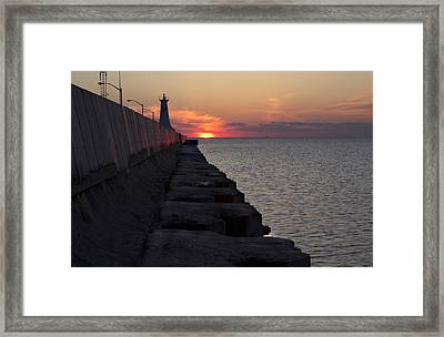 Framed Print featuring the photograph Sunrise by Nick Mares