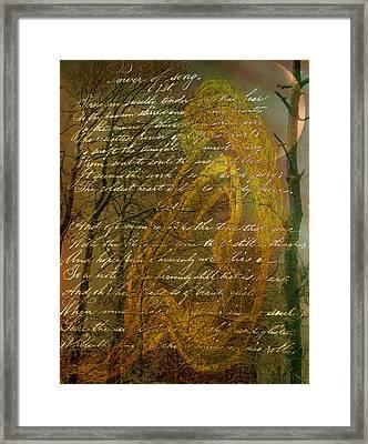 Sunrise Nude Framed Print by Nancy TeWinkel Lauren