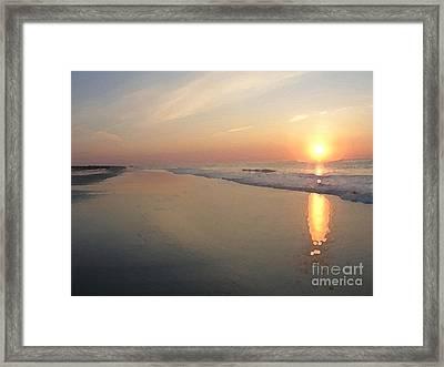 Sunrise On 30th Street Framed Print