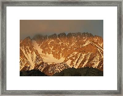Sunrise On Basin Mountain, Above Owens Framed Print