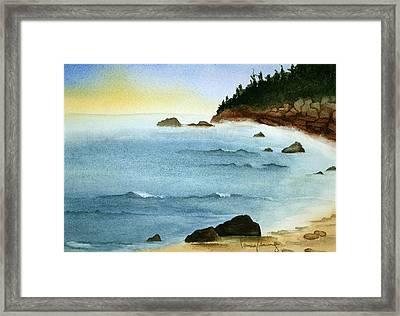 Sunrise On Big Bay Framed Print