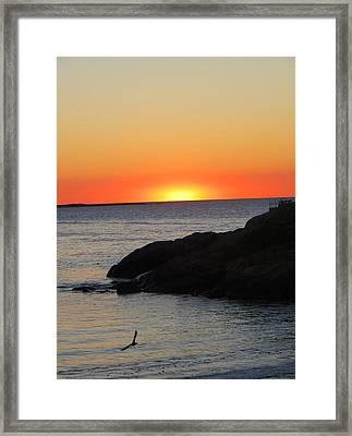 Sunrise On Cape Anne Framed Print by Pamela Turner