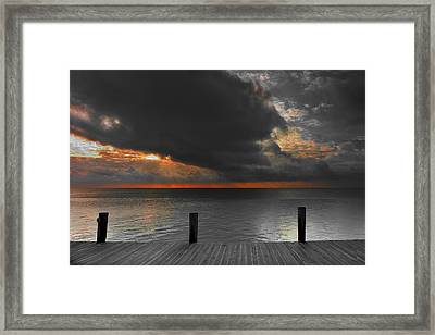 Sunrise On Key Islamorada Framed Print by Randall Nyhof