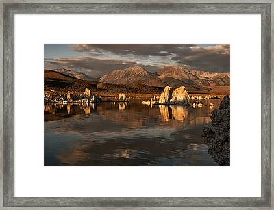 Sunrise On Mono Lake Framed Print