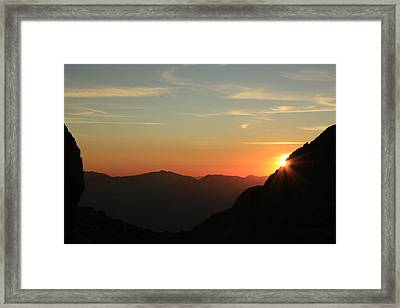 Sunrise On Mt.whitney Framed Print